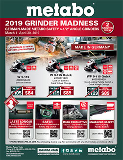 Metabo Promotion - 2019 Grinder Madness