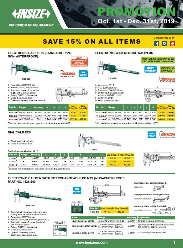 M&M Sales & Equipment - Insize Promo 2019