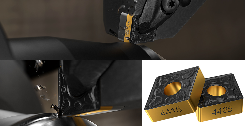 Sandvik Coromant New Steel Turning Tools GC4425 and GC4415